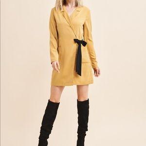 Dynamite Yellow Blazer Dress